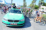 The start of Stage 4 of the 54th Presidential Tour of Turkey 2018, running 206.9km from Marmaris to Selçuk, Turkey. 12th October 2018.<br /> Picture: Brian Hodes/VeloImages | Cyclefile<br /> <br /> <br /> All photos usage must carry mandatory copyright credit (© Cyclefile | Brian Hodes/VeloImages)