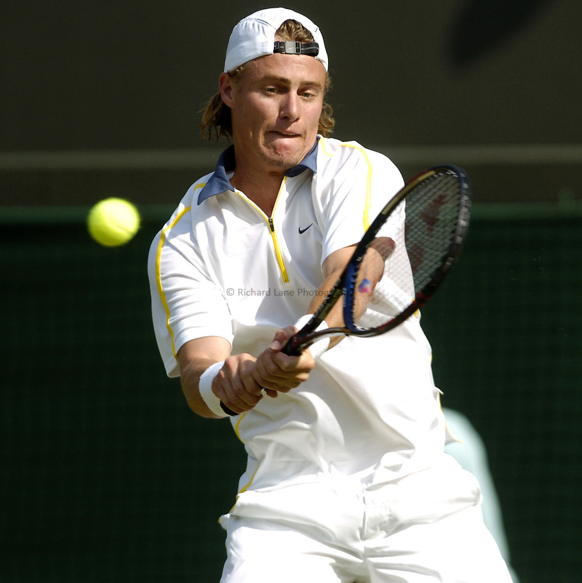 Photo. Jed Wee..Wimbledon Championships. 22/06/2005..Lleyton Hewitt.