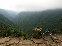 Soldier on Lookout Duty - Sierra Nevada - Northwest Colombia