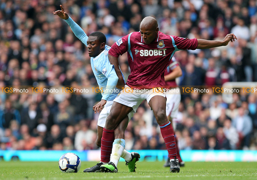 The goal scorers Shaun Wright-Phillips of Manchester City and Luis Boa Morte of West Ham - West Ham United vs Manchester City, Barclays Premier League at Upton Park, West Ham - 09/05/10 - MANDATORY CREDIT: Rob Newell/TGSPHOTO - Self billing applies where appropriate - 0845 094 6026 - contact@tgsphoto.co.uk - NO UNPAID USE.