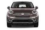 Car photography straight front view of a 2017 Fiat 500X Trekking 5 Door SUV Front View