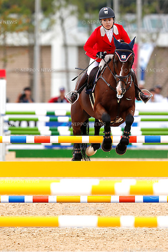 Tae Sato (JPN), <br /> SEPTEMBER 26, 2014 - Equestrian : <br /> Eventing Individual Jumping <br /> at Dream Park Equestrian Venue <br /> during the 2014 Incheon Asian Games in Incheon, South Korea. <br /> (Photo by AFLO SPORT)