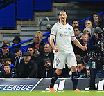 PGS's Zlatan Ibrahimovic celebrates his sides opening goal<br /> <br /> - UEFA Champions League - Chelsea vs Paris Saint Germain - Stamford Bridge - London - England - 9th March 2016 - Pic David Klein/Sportimage