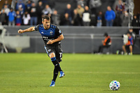 SAN JOSE, CA - MARCH 7: Vako #11 of the San Jose Earthquakes passes the ball during a game between Minnesota United FC and San Jose Earthquakes at Earthquakes Stadium on March 7, 2020 in San Jose, California.