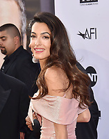 HOLLYWOOD, CA - JUNE 07: Amal Clooney arrive at the American Film Institute's 46th Life Achievement Award Gala Tribute To George Clooney at the Dolby Theatre on June 7, 2018 in Hollywood, California.<br /> CAP/ROT/TM<br /> &copy;TM/ROT/Capital Pictures
