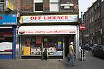 Off Licence shop,, Brick Lane, London, E1, England