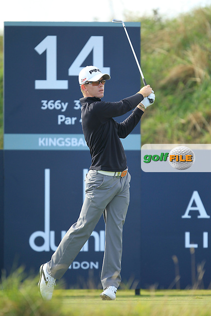 Brandon Stone (RSA) during Round 1of the Alfred Dunhill Links Championship at Kingsbarns Golf Club on Thursday 26th September 2013.<br /> Picture:  Thos Caffrey / www.golffile.ie