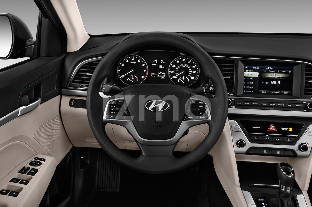 Car pictures of steering wheel view of a 2017 Hyundai Elantra SE 4 Door Sedan Steering Wheel