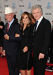 HOLLYWOOD, CA - APRIL 12: Larry Hagman, Linda Gray and Patrick Duffy attend the World Premiere of 40th Anniversary Restoration of 'Cabaret' at Grauman's Chinese Theatre on April 12, 2012 in Hollywood, California.