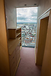 © Joel Goodman - 07973 332324 . 24 June 2013 . Orchid Suite , Beetham Tower , Manchester , UK . Inside the walk in wardrobe in the girl's bedroom . Former triplex apartment home of Phil and Julie Neville , which is up for rent and thought to be the most expensive in Manchester . Photo credit : Joel Goodman
