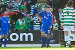 St Johnstone v Celtic..30.10.10  .Steven Milne hides his face after his dreadful mistake gifted Emilio Izaguirre his goal.Picture by Graeme Hart..Copyright Perthshire Picture Agency.Tel: 01738 623350  Mobile: 07990 594431
