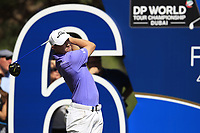 Matthew Fitzpatrick (ENG) on the 16th tee during the final round of the DP World Tour Championship, Jumeirah Golf Estates, Dubai, United Arab Emirates. 18/11/2018<br /> Picture: Golffile | Fran Caffrey<br /> <br /> <br /> All photo usage must carry mandatory copyright credit (© Golffile | Fran Caffrey)