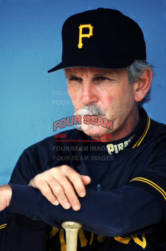 Pittsburgh Pirates Manager Jim Leyland at Dodger Stadium in Los Angeles,California during the 1996 season. (Larry Goren/Four Seam Images)