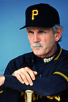 Pittsburgh Pirates Manager Jim Leyland at Dodger Stadium in Los Angeles,California during the 1996 season. (Larry Goren/Four Seam Images)