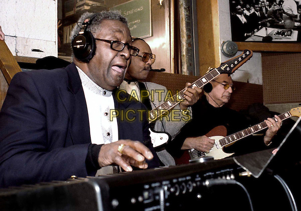 "JOE HUNTER, EDDIE WILLIS & JOE MESSINA .in the original ""Snakepit"" studio recording ""You've Really Got A Hold On Me"" in the documentary Standing In The Shadows Of Motown.Filmstill - Editorial Use Only.Ref: FB .www.capitalpictures.com.sales@capitalpictures.com.Supplied by Capital Pictures"