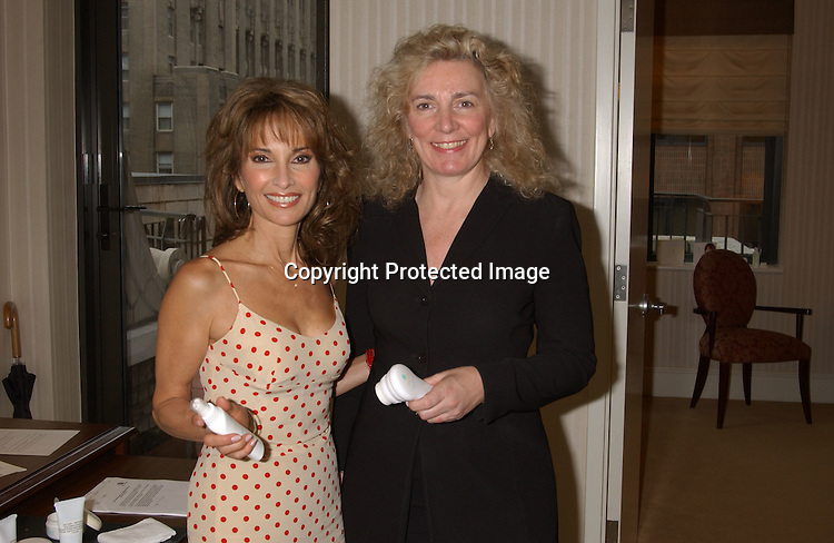 ..Susan Lucci & Lynn Varacalli..at press event for Youthful Essence, the new complete personal microdermabrasion system on June 4,2003 at the ..Benjamin Hotel.  Photo by Robin Platzer, Twin Images