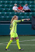 Rochester, NY - Friday May 27, 2016: Western New York Flash goalkeeper Britt Eckerstrom (28). The Western New York Flash defeated the Boston Breakers 4-0 during a regular season National Women's Soccer League (NWSL) match at Rochester Rhinos Stadium.