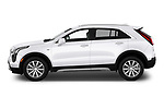 Car driver side profile view of a 2020 Cadillac XT4 Premium Luxury 5 Door SUV