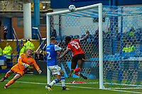 Barnsley's defender Andy Yiadom (17) clears a dangerous cross during the Sky Bet Championship match between Sheff Wednesday and Barnsley at Hillsborough, Sheffield, England on 28 October 2017. Photo by Stephen Buckley / PRiME Media Images.