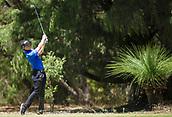 10th February 2018, Lake Karrinyup Country Club, Karrinyup, Australia; ISPS HANDA World Super 6 Perth golf, third round; Grant Forrest (SCT) plays a shot