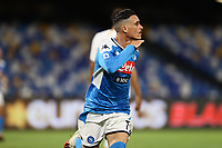 5th July 2020; Stadio San Paolo, Naples, Campania, Italy; Serie A Football, Napoli versus Roma; Jose Maria Callejon of Napoli celebrates after scoring for 1-0  in 55th minute