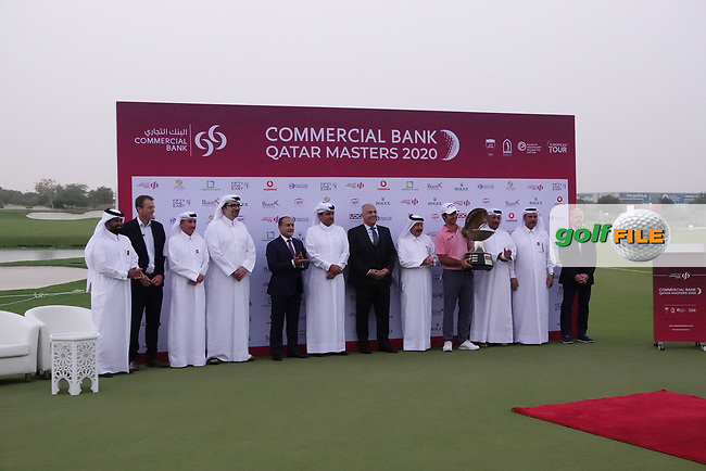 Jorge Campillo (ESP) at prize presentation during the final round of the Commercial Bank Qatar Masters 2020, Education City Golf Club , Doha, Qatar. 07/03/2020<br /> Picture: Golffile   Phil Inglis<br /> <br /> <br /> All photo usage must carry mandatory copyright credit (© Golffile   Phil Inglis)