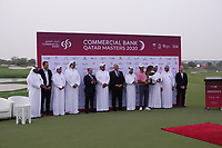 Jorge Campillo (ESP) at prize presentation during the final round of the Commercial Bank Qatar Masters 2020, Education City Golf Club , Doha, Qatar. 07/03/2020<br /> Picture: Golffile | Phil Inglis<br /> <br /> <br /> All photo usage must carry mandatory copyright credit (© Golffile | Phil Inglis)