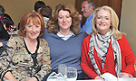 Tina Whyte Deirdre Boyle and Olive Hughes pictured at the Rolling Sun Festival event at the Clew Bay Hotel.<br /> Pic Conor McKeown