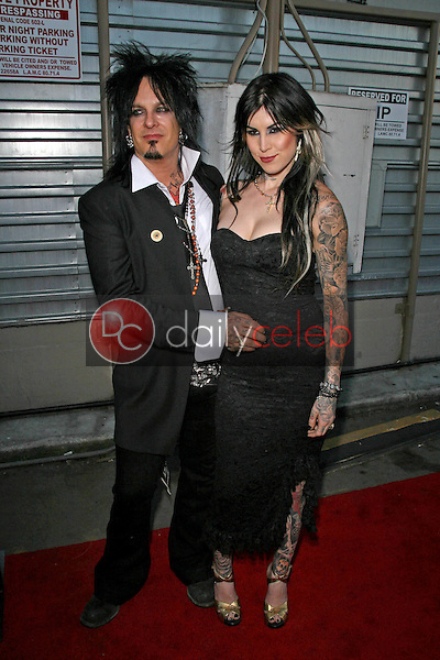 Nikki Sixx and Kat Von D<br />