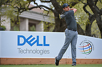 Julian Suri (USA) watches his tee shot on 1 during day 3 of the World Golf Championships, Dell Match Play, Austin Country Club, Austin, Texas. 3/23/2018.<br /> Picture: Golffile | Ken Murray<br /> <br /> <br /> All photo usage must carry mandatory copyright credit (&copy; Golffile | Ken Murray)