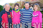 Pictured at the rescheduled GOAL Mile walk in Killarney on Sunday were Mossie Kelliher, Sinead and Pat Tangney and Anne Mangan.