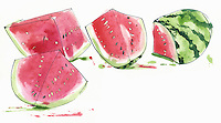 Watermelon chunks ExclusiveImage