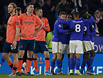 Leicester City and Everton players react on the final whistle after the Premier League match at the King Power Stadium, Leicester. Picture date: 1st December 2019. Picture credit should read: Darren Staples/Sportimage