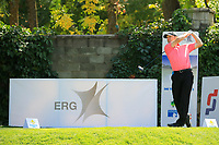 Michael Hoey (NIR) during the first round of the Kazakhstan Open presented by ERG played at Zhailjau Golf Resort, Almaty, Kazakhstan. 13/09/2018<br /> Picture: Golffile | Phil Inglis<br /> <br /> All photo usage must carry mandatory copyright credit (&copy; Golffile | Phil Inglis)