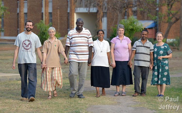 Faculty at the Catholic Health Training Institute (CHTI) in Wau, South Sudan. Run by Solidarity with South Sudan, an international network of Catholic organizations supporting the development of the world's newest country, the CHTI trains nurses and midwives from throughout the country.