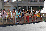 Ms Racing Queen contestants in the walking ring between races at Gulfstream Park, Hallandale Beach Florida. 02-01-2014
