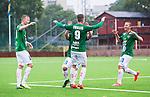 ***BETALBILD***  <br /> Solna 2015-07-25 Fotboll Superettan Athletic FC United - J&ouml;nk&ouml;pings S&ouml;dra IF :  <br /> J&ouml;nk&ouml;ping S&ouml;dras Tommy Thelin firar sitt 1-2 m&aring;l med Tim S&ouml;derstr&ouml;m och lagkamrater under matchen mellan Athletic FC United och J&ouml;nk&ouml;pings S&ouml;dra IF <br /> (Foto: Kenta J&ouml;nsson) Nyckelord:  Superettan Skytteholm Skytteholms IP AFC Athletic FC United J&ouml;nk&ouml;ping J-S&ouml;dra jubel gl&auml;dje lycka glad happy