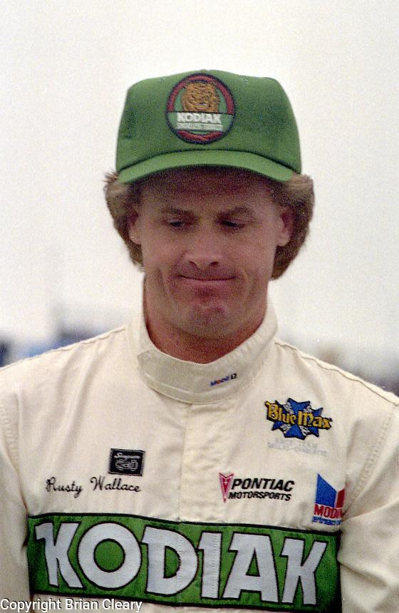 Rusty Wallace Daytona 500 at Daytona International Speedway in Daytona Beach, FL on February 14, 1988. (Photo by Brian Cleary/www.bcpix.com)