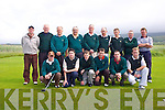 Dooks Golf Club who won the  Munster final of the Jimmy Bruen Shield at Muskerry Golf Club in Cork..First row l-r: Sean OSullivan, Paul Griffin, Niall O'Connor, Ray Riordan, Michael Shaughnessy, Edward Daniels and Seamus Curran. Second row.l-r:David Marmion, Tim Collins, Gene Evans, Pat Curran (C/P) Pat Riordan, Denis McGillicuddy, Mike McGillicuddy, Tom Curran, Mike Johnson