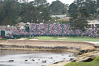 Ryan Fox (NZL) \Alex Prugh (USA) on the 18th green during the final round of the US Open Championship, Pebble Beach Golf Links, Monterrey, Calafornia, USA. 16/06/2019.<br /> Picture Fran Caffrey / Golffile.ie<br /> <br /> All photo usage must carry mandatory copyright credit (© Golffile | Fran Caffrey)