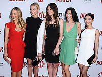 HOLLYWOOD, CA - JUNE 15: Julie Benz, Yvonne Strahovski, Jennifer Carpenter, Jaime Murray and Aimee Garcia arrive at the premiere screening of Showtime's 'Dexter' Season 8 at Milk Studios on June 15, 2013 in Hollywood, California. (Photo by Celebrity Monitor)