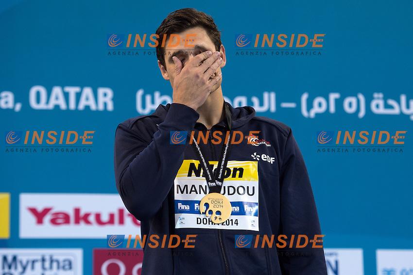 MANAUDOU Florent FRA Gold Medal Men's 100m Freestyle <br /> Doha Qatar 05-12-2014 Hamad Aquatic Centre, 12th FINA World Swimming Championships (25m). Nuoto Campionati mondiali di nuoto in vasca corta.<br /> Photo Andrea Staccioli/Deepbluemedia/Insidefoto