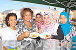 Linda Flanagan Tralee, Liana Adkeith Firies, Noralizah Anvar Basha Killarney, Nik Zamzuriana Mohd Nor Tralee and Maslina Killarney  enjoying some spicy from A Taste of Asia at the Flavours of Killorglin fair on Saturday