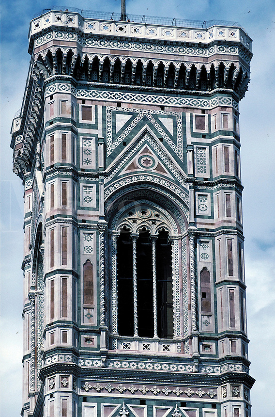 Architectural detail. Giotto. Florence, Italy Europe.