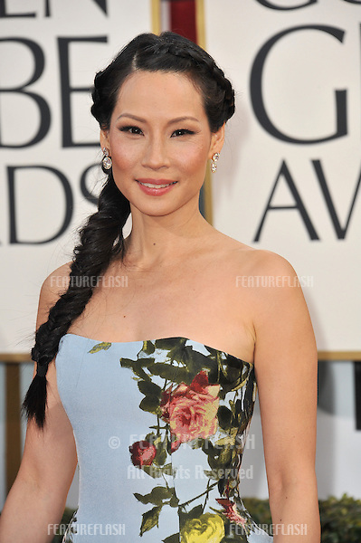 Lucy Liu at the 70th Golden Globe Awards at the Beverly Hilton Hotel..January 13, 2013  Beverly Hills, CA.Picture: Paul Smith / Featureflash