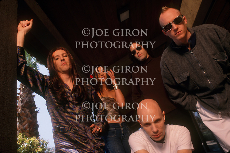Recording artists, A Perfect Circle, pose for a portrait session