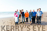 L-R Ava&Raymond Sugrue, Dylan Fitzgerald, Amber Sugrue, Cara Buckley, Pat O'Shea, John McCarthy and Kieran Goodwin, who are all involved in the organisation of next Sundays Castlegregorys Horse&Pony racing at Stradbally Strand, pictured on the beach last Monday evening.