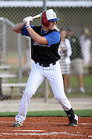 Ben Brookover, #21 of Reagan High School, TX for the Dallas Mustangs Team during the WWBA World Championship 2013 at the Roger Dean Complex on October 25, 2013 in Jupiter, Florida. (Stacy Jo Grant/Four Seam Images)
