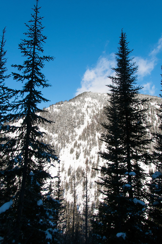 Scenes from Izaak Walton Hotel and resort near Glacier National Park in Montana, USA in winter.