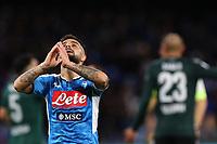 Lorenzo Insigne of Napoli dejection<br /> Napoli 01-12-2019 Stadio San Paolo <br /> Football Serie A 2019/2020 <br /> SSC Napoli - Bologna FC<br /> Photo Cesare Purini / Insidefoto